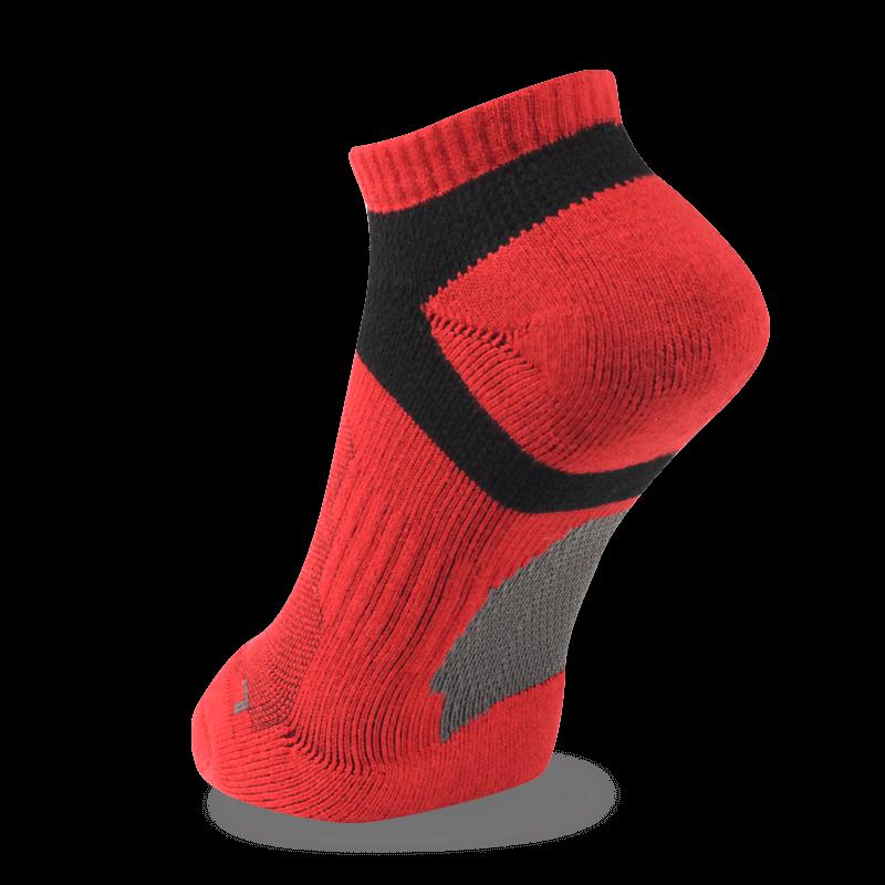NAVIWEAR SPORT 慢跑襪 運動踝襪 紅黑 l2