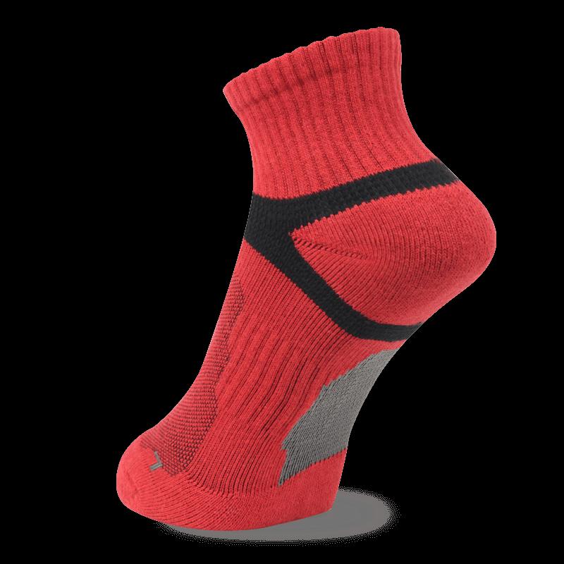 NAVIWEAR SPORT 慢跑襪 運動短襪 紅黑 m2