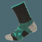 NAVIWEAR SPORT 壓力運動襪 黑綠 籃球襪 1