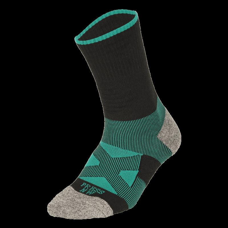 NAVIWEAR SPORT 壓力運動襪 黑綠 籃球襪 2