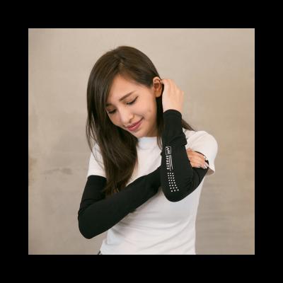 NAVIWEAR 抗UV反光 運動袖套 黑2